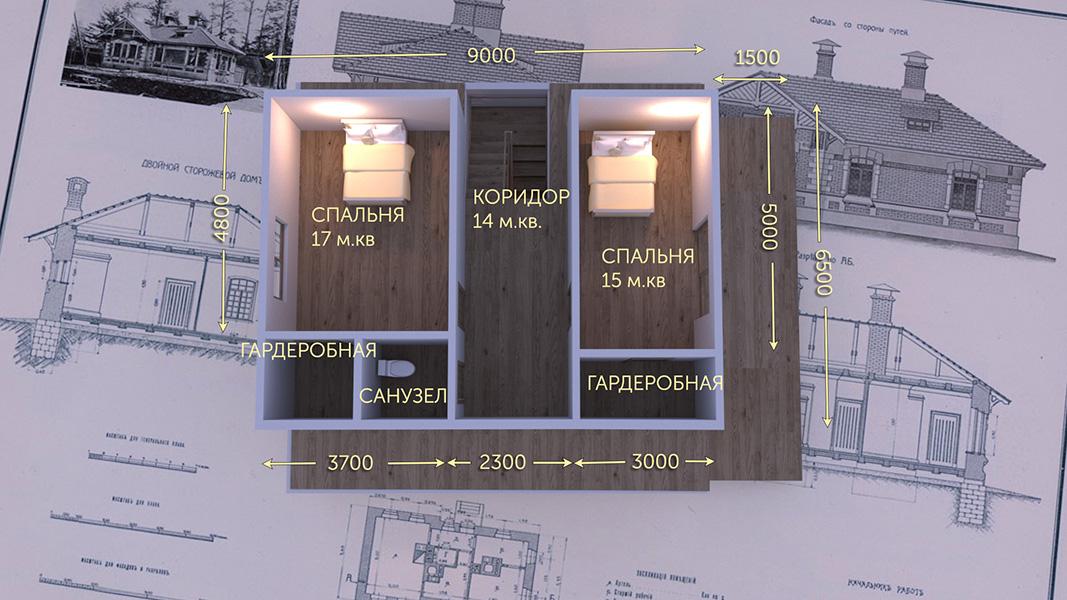 План второго этажа - проект Осло