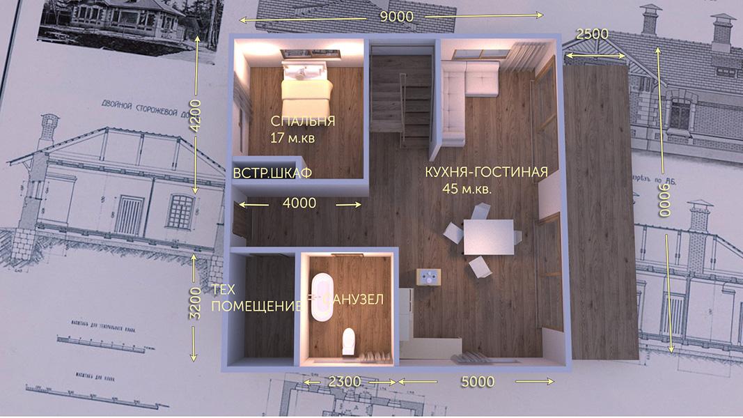 План первого этажа - проект Осло