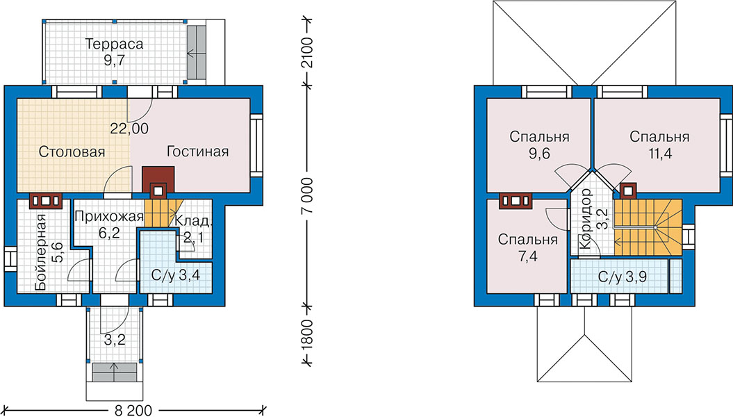План первого этажа - проект Эссен