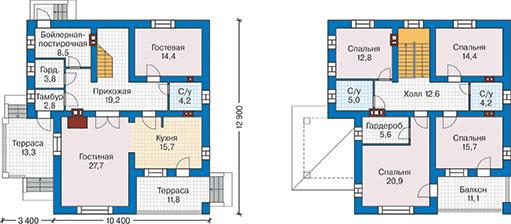 План первого этажа - проект Орлеан
