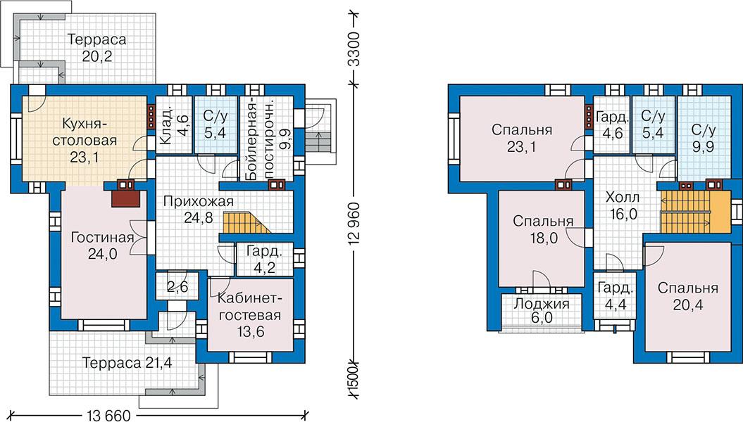 План первого этажа - проект Ольденбург