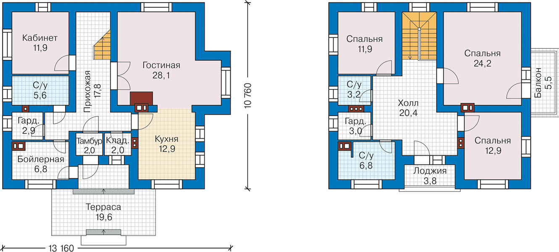 План первого этажа - проект Аугсбург