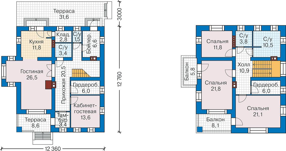 План первого этажа - проект Мюнстер