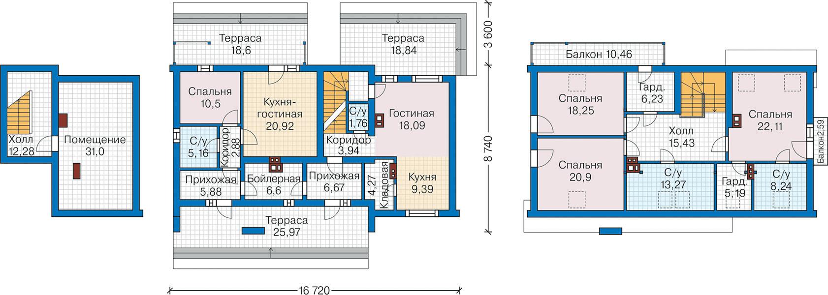 План первого этажа - проект Ларвик