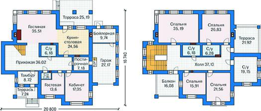 План первого этажа - проект Штутгарт