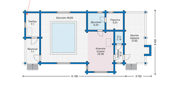 План первого этажа - проект Вадстена