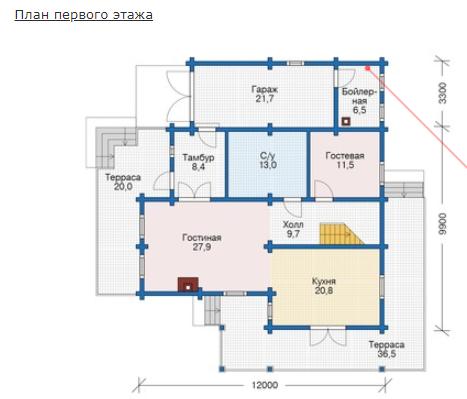 План первого этажа - проект Дрезден