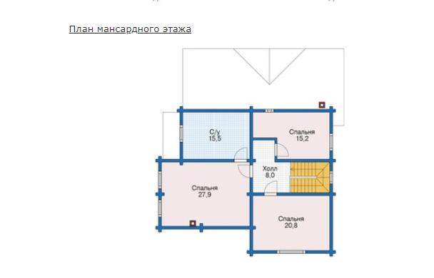 План второго этажа - проект Дрезден