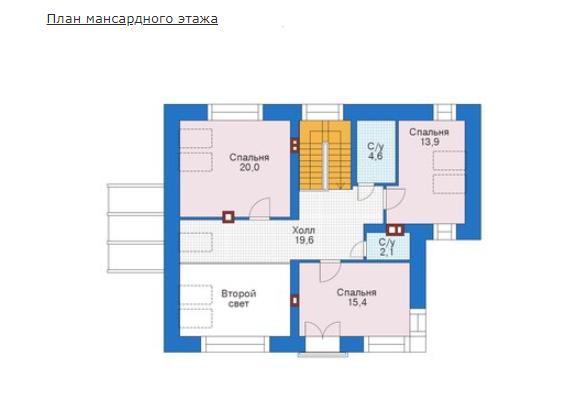 План второго этажа - проект Арнем