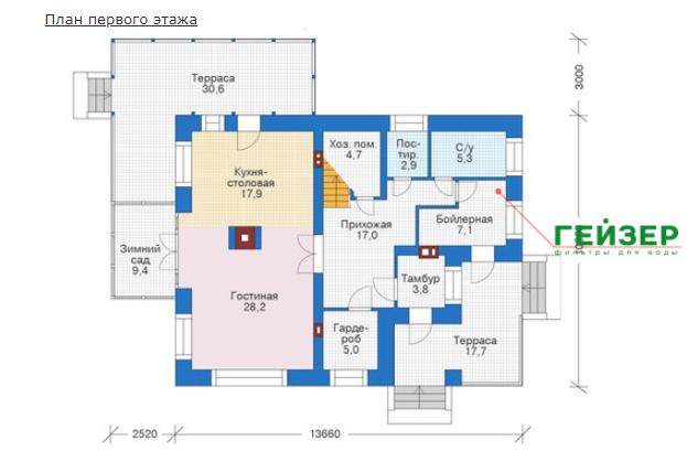 План первого этажа - проект Арнем