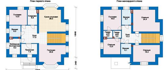 План первого этажа - проект Дижон
