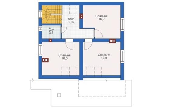 План второго этажа - проект Римини