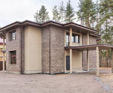 Проект Современный кирпичный дом в Охта Парке