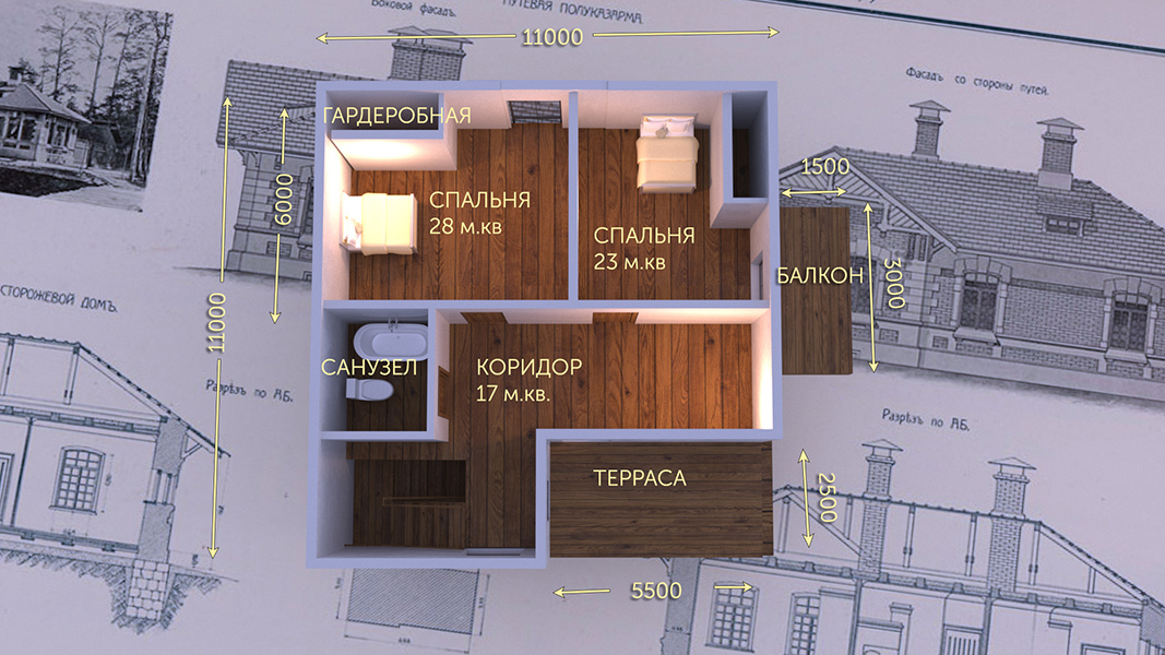 План первого этажа - проект Палермо