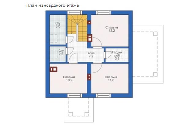 План второго этажа - проект Вильц