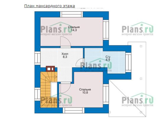 План второго этажа - проект Ксанти