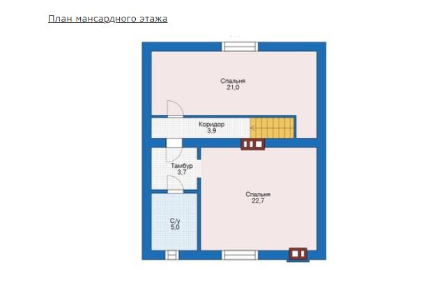 План второго этажа - проект Терми