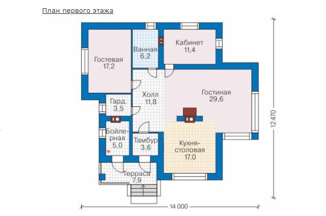 План первого этажа - проект Скаген