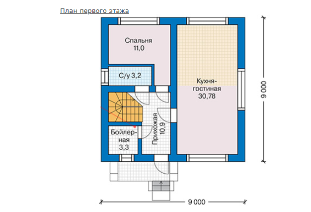 План первого этажа - проект Глостер