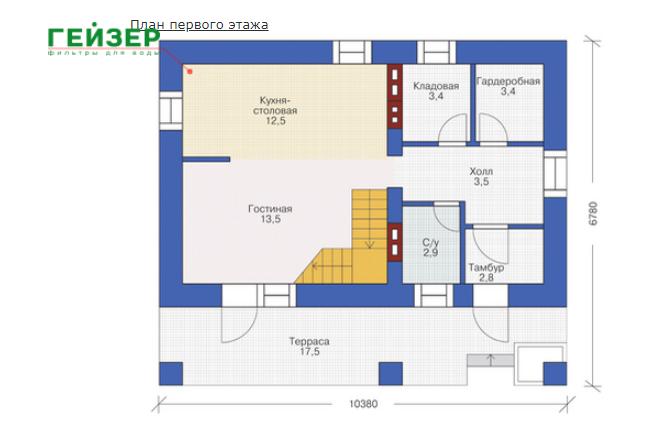 План первого этажа - проект Гент