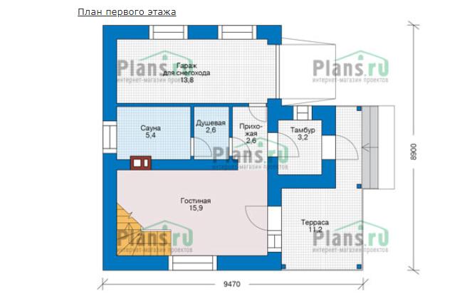 План первого этажа - проект Ксанти