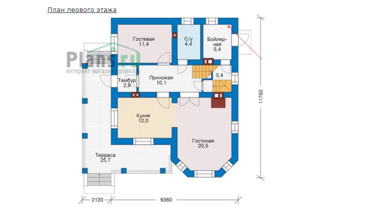 План первого этажа - проект Ричмонд