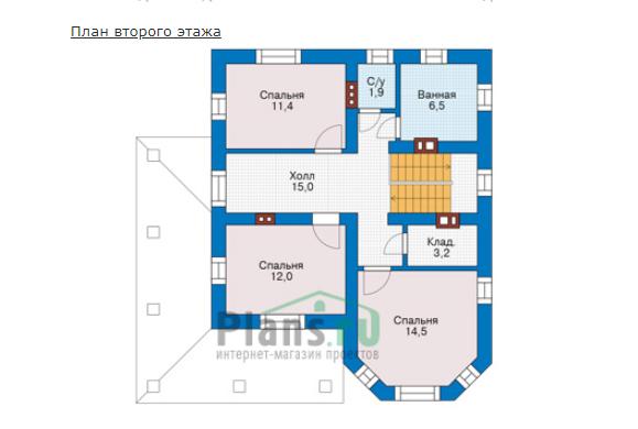 План второго этажа - проект Ричмонд