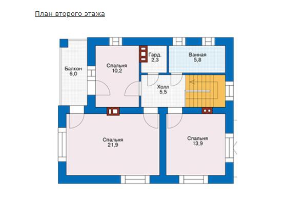 План второго этажа - проект Бурж