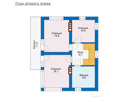 План второго этажа - проект Виго