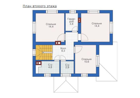 План второго этажа - проект Зиген