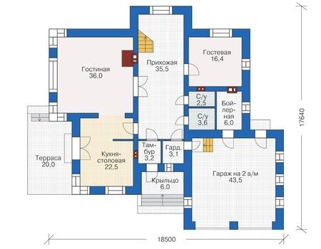 План первого этажа - проект Брайтон