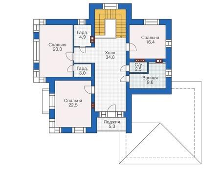 План второго этажа - проект Брайтон