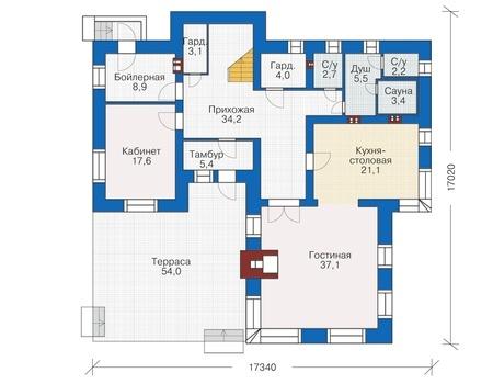 План первого этажа - проект Лерсет