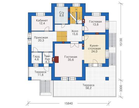 План второго этажа - проект Болтон