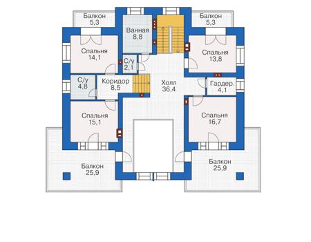 План третьего этажа - проект Болтон