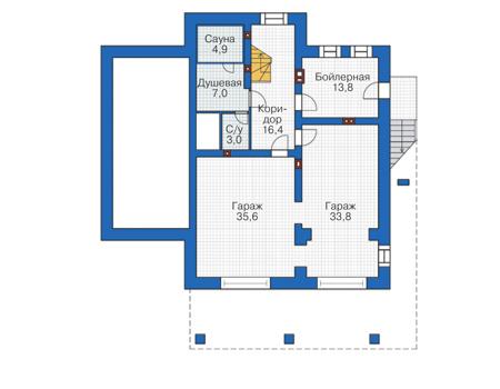 План первого этажа - проект Болтон