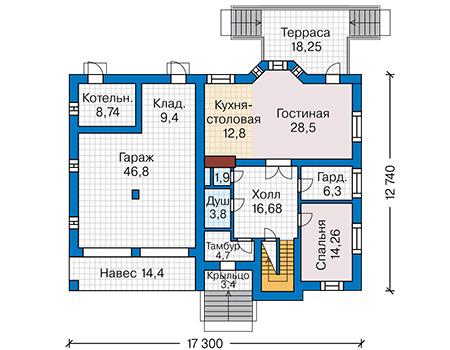 План первого этажа - проект Реймс