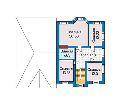 План второго этажа - проект Реймс
