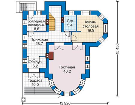 План первого этажа - проект Дюрен