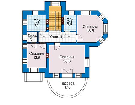 План второго этажа - проект Дюрен