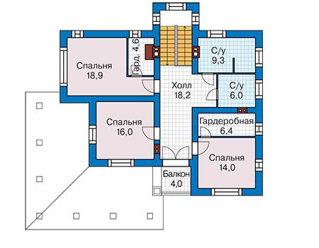 План второго этажа - проект Лестер