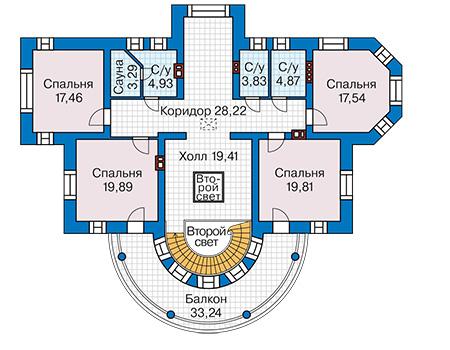 План второго этажа - проект Бристоль