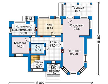 План первого этажа - проект Ковентри