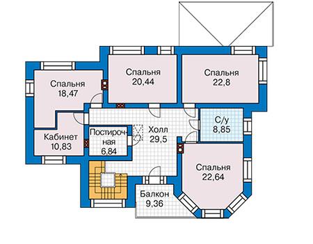 План второго этажа - проект Ковентри
