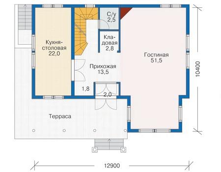 План первого этажа - проект Харлем