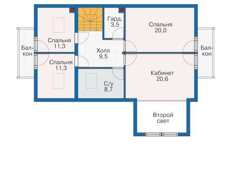План второго этажа - проект Харлем