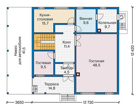План первого этажа - проект Бонди