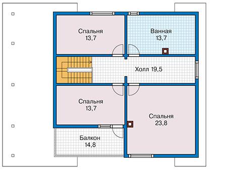 План второго этажа - проект Бонди