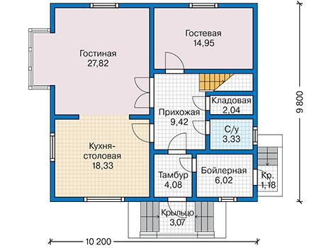 План первого этажа - проект Соро