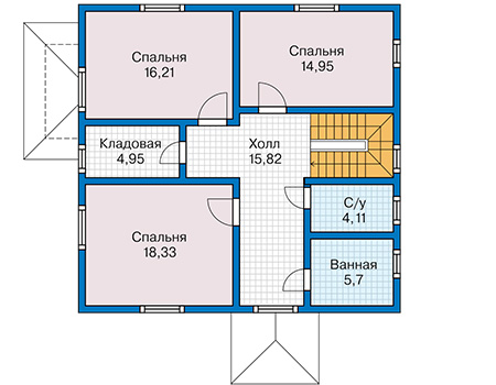 План второго этажа - проект Соро